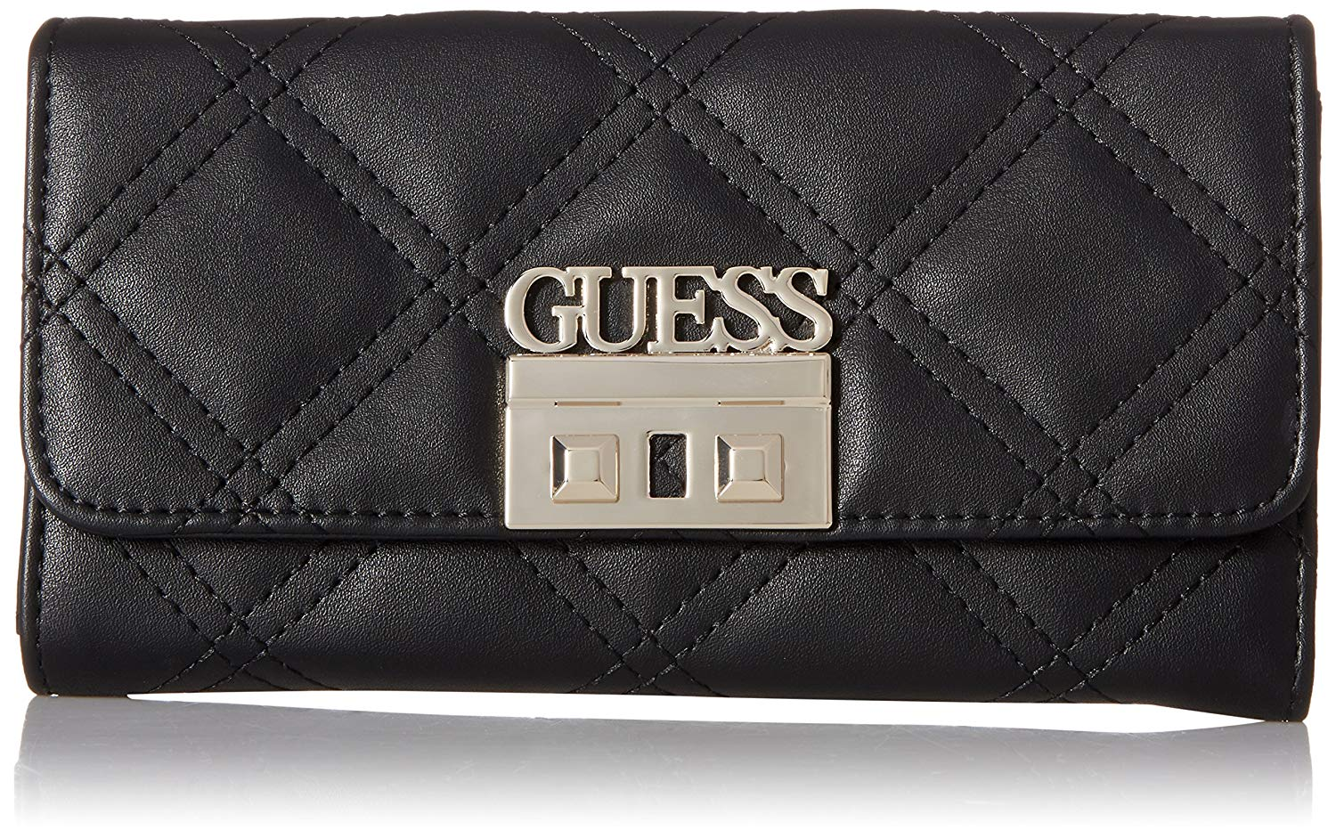 8b49293780 GUESS Status Multi Clutch Wallet Black