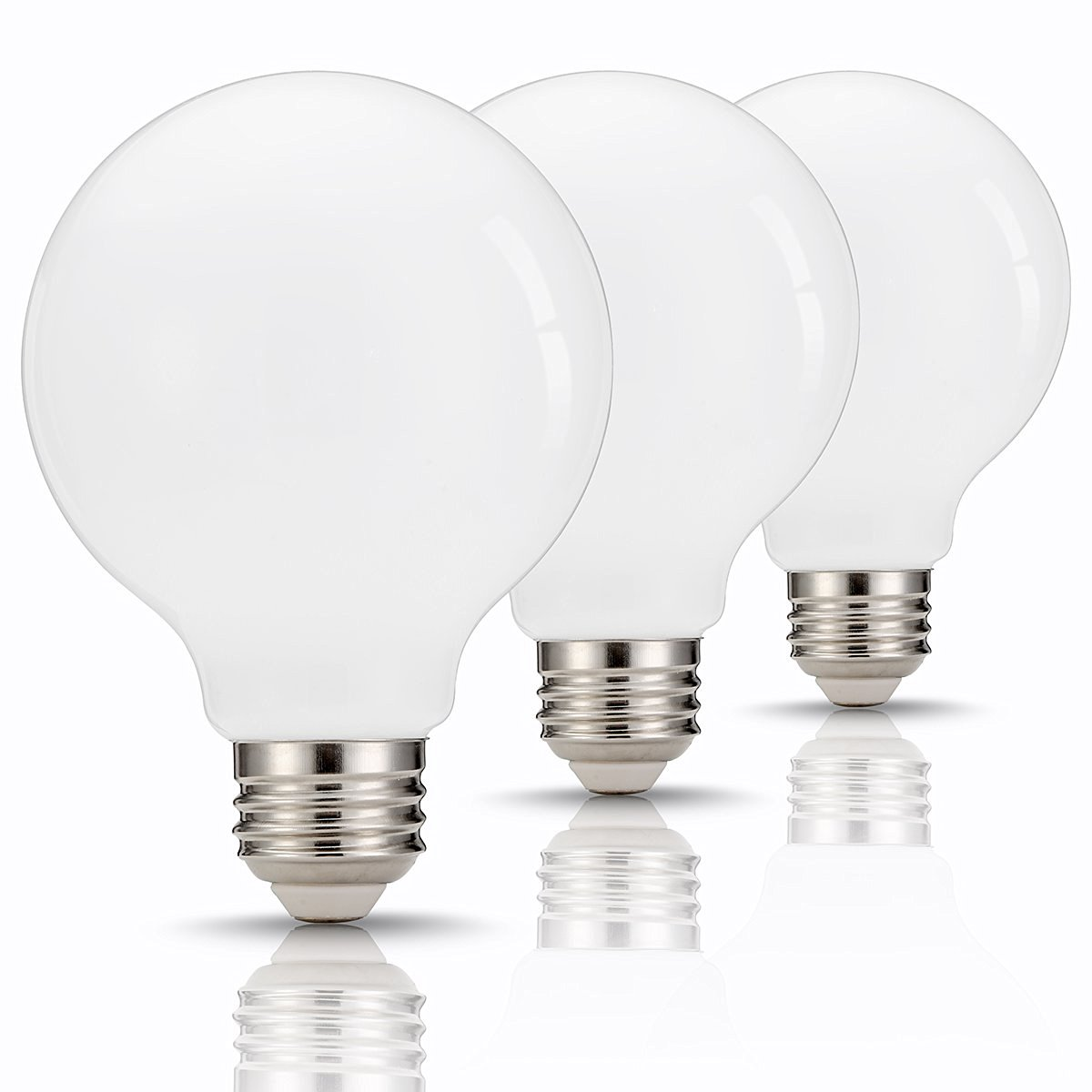 TGMold E26 LED Light Bulb, 3 Color Changing Light, 40W Equivalent(4W), 2700K/6000K/4000K Available, Adjustable Warm White/Cool White/Natural Daylight Bulbs for Chandelier, Ceiling Fixture, 2 Pack
