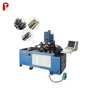 Copper steel tube mouth end closing sealing forming reducer and taper tube making machine