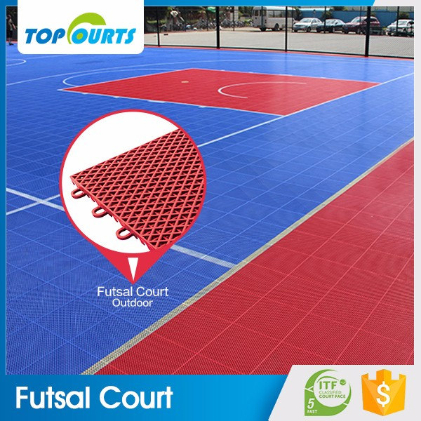 Top grade top sell interlocking polypropylene anti slip futsal flooring outdoor