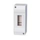 ZCEBOX Surface mount 2 way circuit breaker box White plastic MCB distribution box Enclosure switchboard