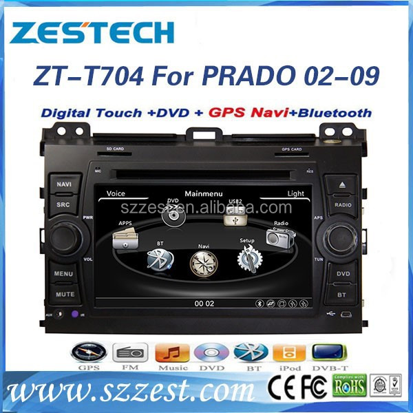 ZESTECH DVD Supplier 2 Din Touch screen Dvd Gps Navigation System autoradio gps Car Audio Player for <strong>Toyota</strong> <strong>PRADO</strong> 2002-2009