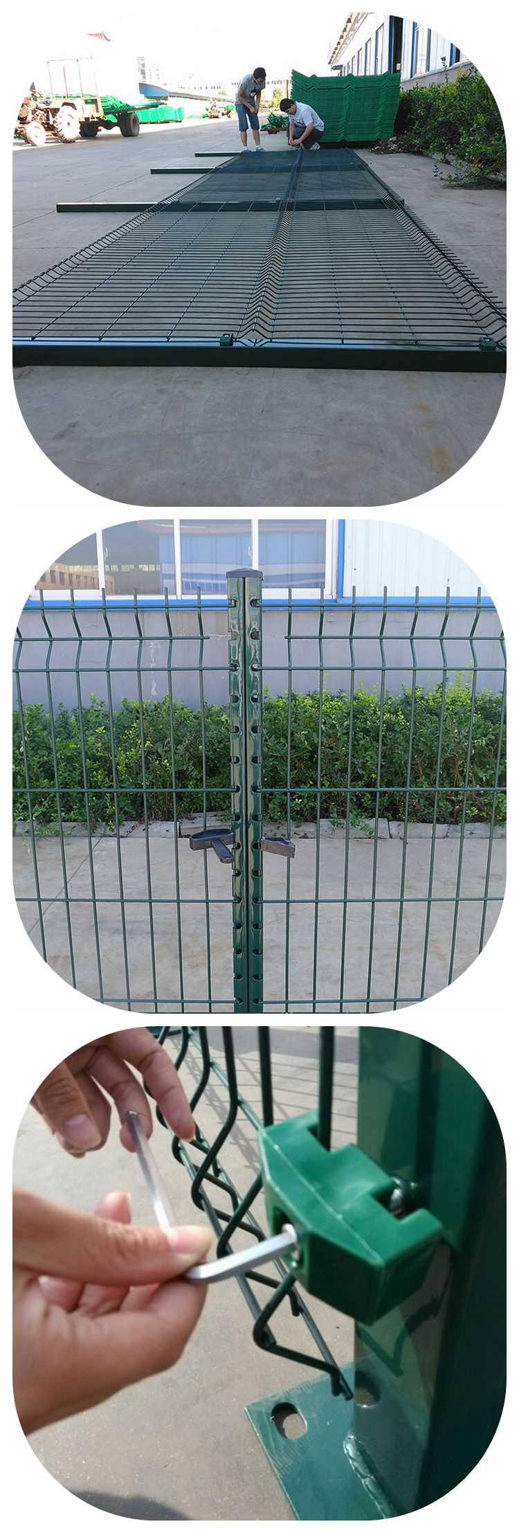 Garden Welded Wire Mesh Metal Panels Curvy