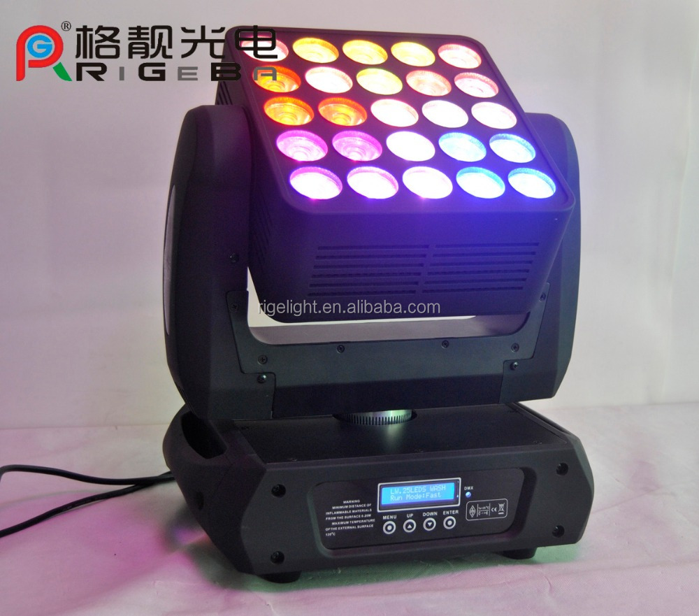 Blizzard Block Head 2 Wash Beam 4in1 RGBW 5*5 25*12w LED Matrix Moving Head Light