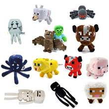 Minecraft Plush Toys 13 Styles Soft Stuffed Animal Doll Kids Game Cartoon Toy brinquedos Children Gift Free shipping