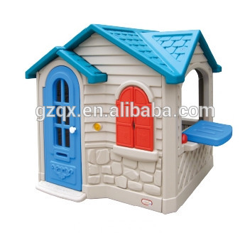 Beautiful Color Kid Play House Kids Outdoor Playhouse Plastic Castle Qx 158e