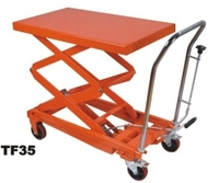 Movable hydraulic scissor manual atv air lift table
