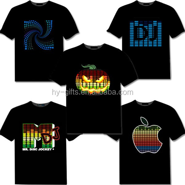Hot Sale Sound Activated Led Cotton T Shirt Light Up And Down Flashing Equalizer El T-shirt Men For Rock Disco Party Dj Top Tee Outstanding Features Anime Costumes Back To Search Resultsnovelty & Special Use