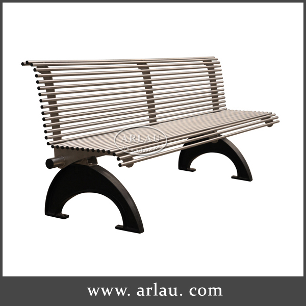Outdoor metal stainless steel park bench