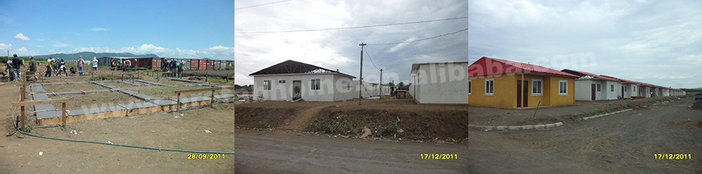 Factory price 2 bedroom bathroom prefab house with garage