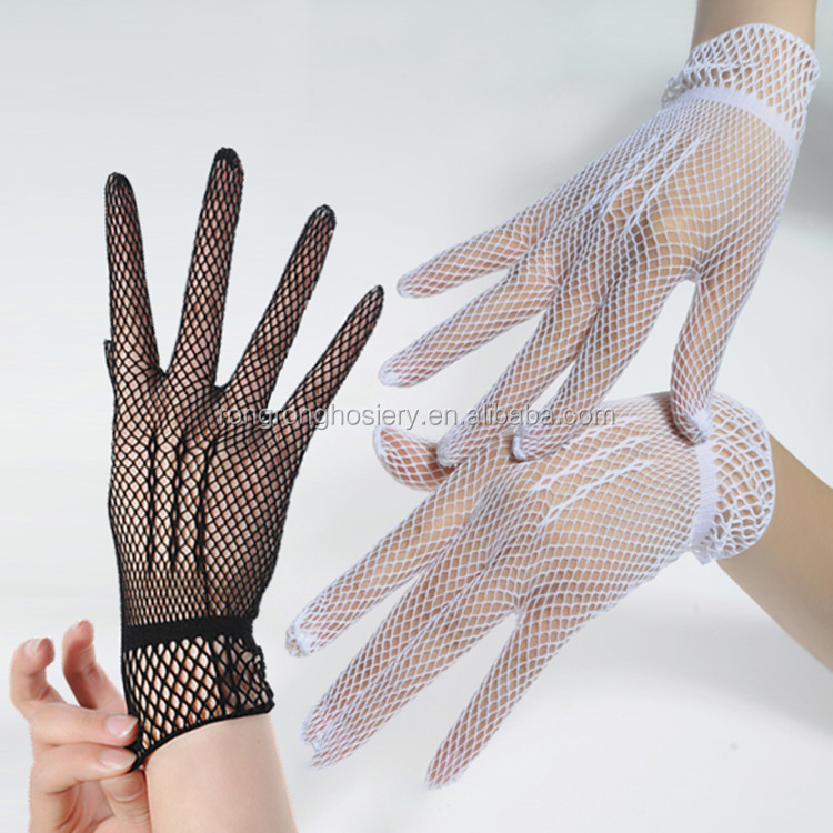 wedding accessory Flaring Lace Cuffs Fishnet <strong>Gloves</strong>