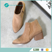 autumn and winter Microfiber leather shoe women winter boots