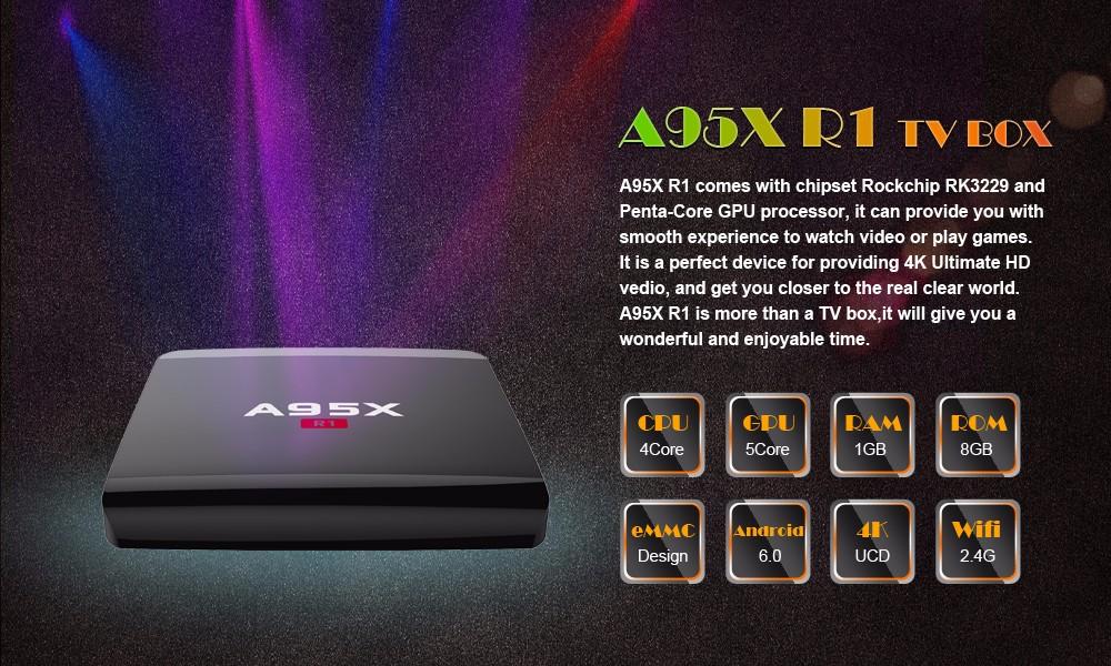 A95x R1 Smart Tv Box Android 6 0 Rockchip Rk3229 Cpu Media Player Nexbox Tv  Box 2 4g Wifi 802 11b/g/n Set Top - Buy Nexbox Tv Box,Android 6 0 Tv
