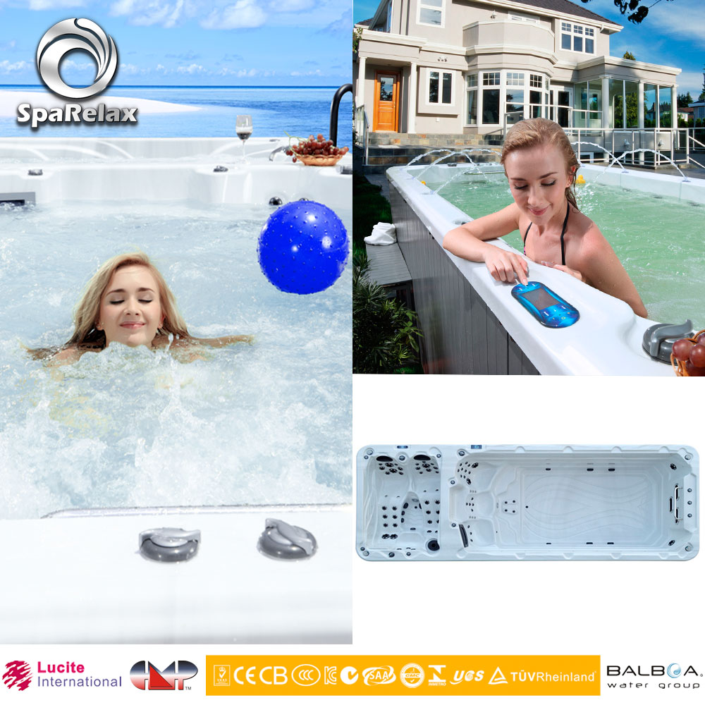 2016 Outdoor Swim Pool Large Swimming Spa with acuzzi swim spa (SRP-650)