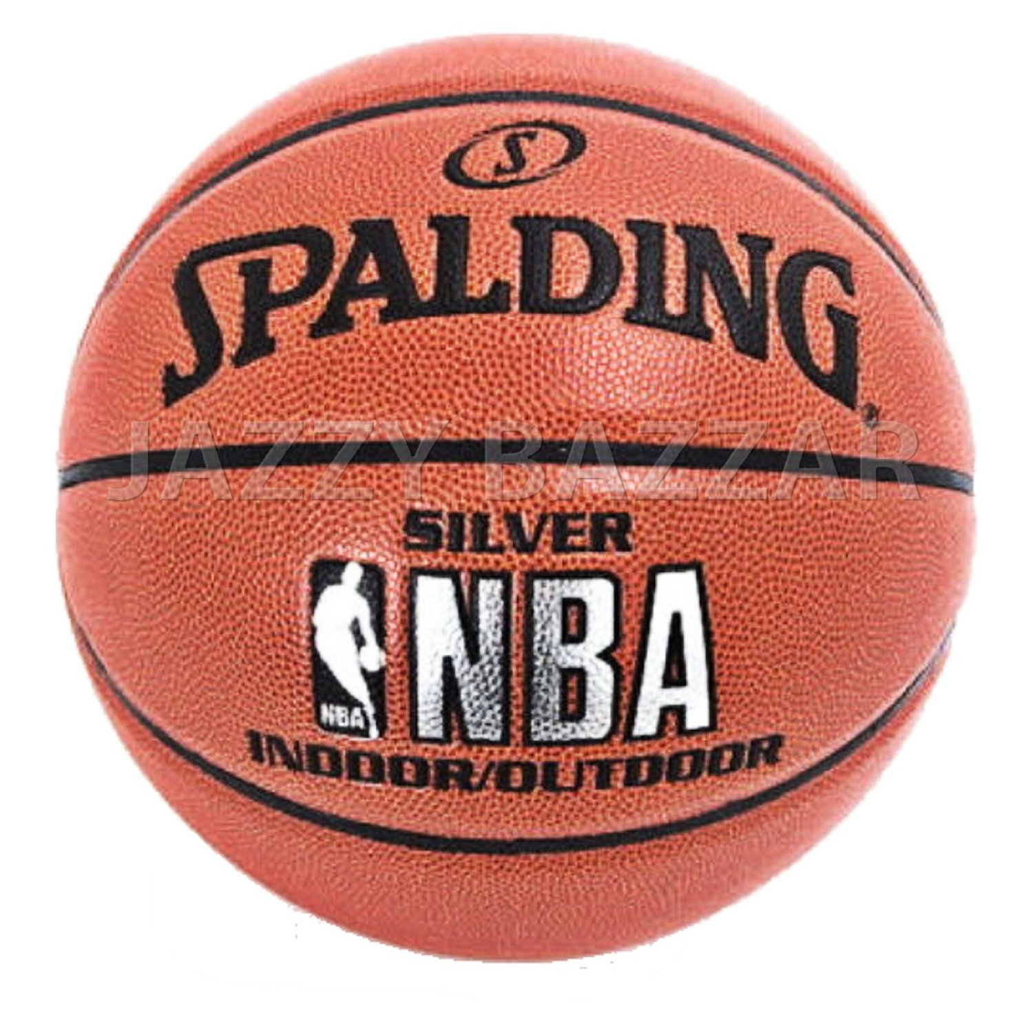 NEW SPALDING SILVER NBA BASKETBALL GAME BALL OFFICIAL SIZE 7 Indoor    Outdoor e9834f6ae