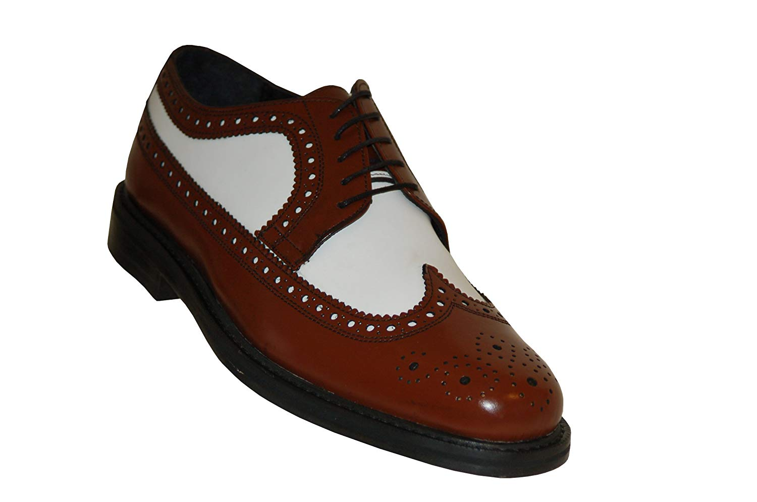 Buy Aris Allen Mens 1930s Brown and White Spectator Wingtip