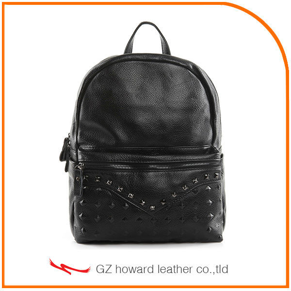 latest college girls shoulder bags black backpack pu 2017 for women