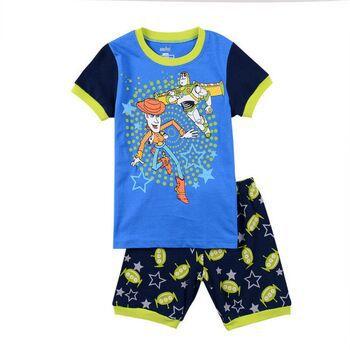 Summer Hot Printed Suits Boys Buzz Lightyear Pajamas