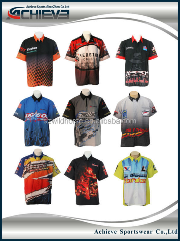05d9b2c0 Dye Sublimation motorcycle suits for kids,customized racing crew shirts,motorbike  sports full buttons