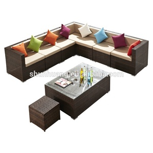 Good sale cheap price rattan sofa sets outdoor wicker furniture