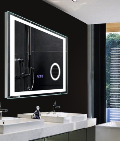 High Class Bathroom Led Lighting Wall Mirrors With Digital