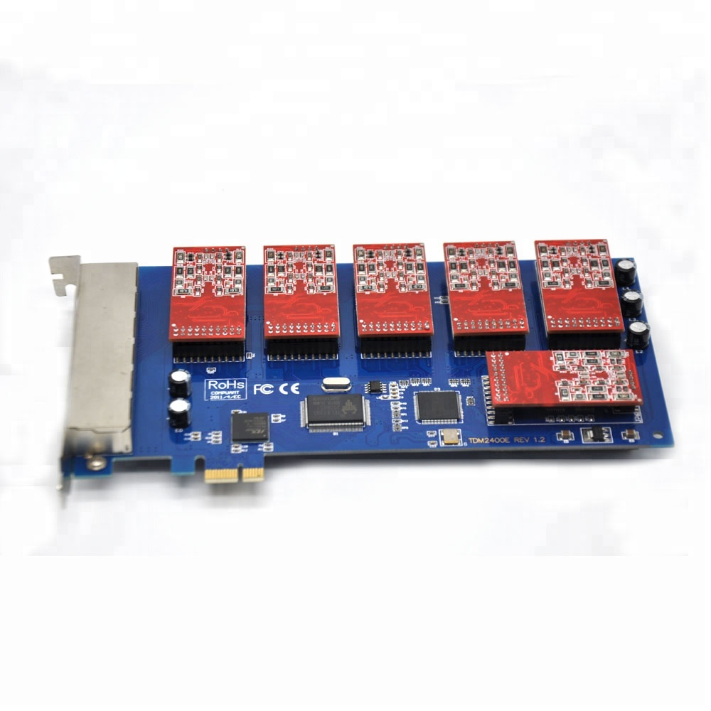 Quad Span Analog FXO//FXS Card with 3 FXO//1 FXS Ports  FreePBX Asterisk Card