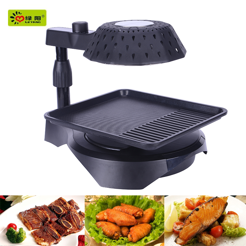 3D infrared barbecue table top barbecue bbq grill with rotating barbecue bbq grill and bbq ribs in electric roaster oven