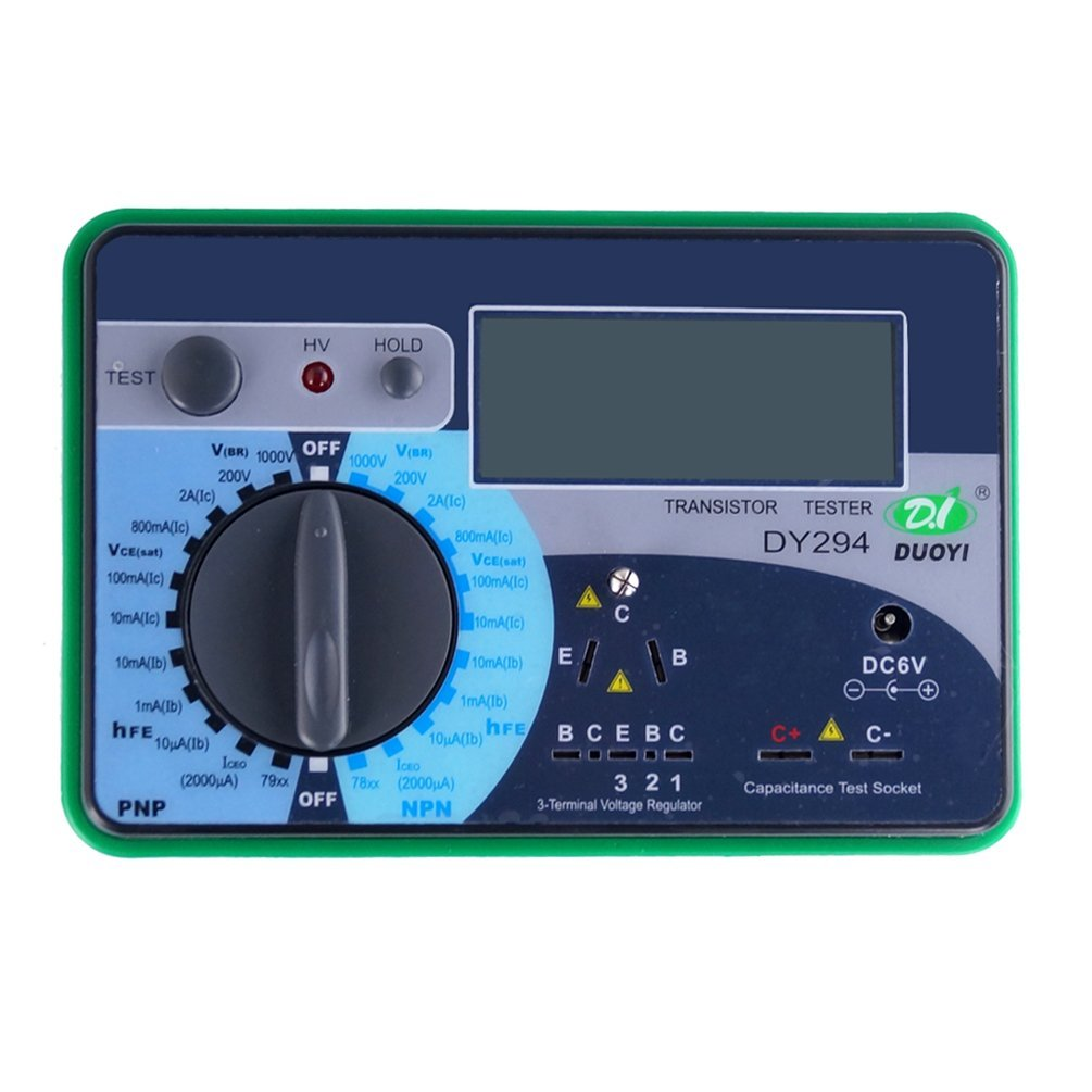 DUOYI DY294 Digital Transistor Tester Semiconductor Tester Multimeter Tester Electrical Instrument