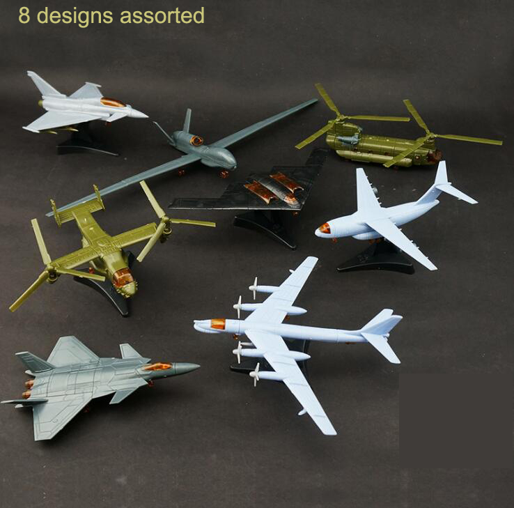 Plastic Airplane Model Kit Aircraft Assemble Toys Military Model 3rd generation