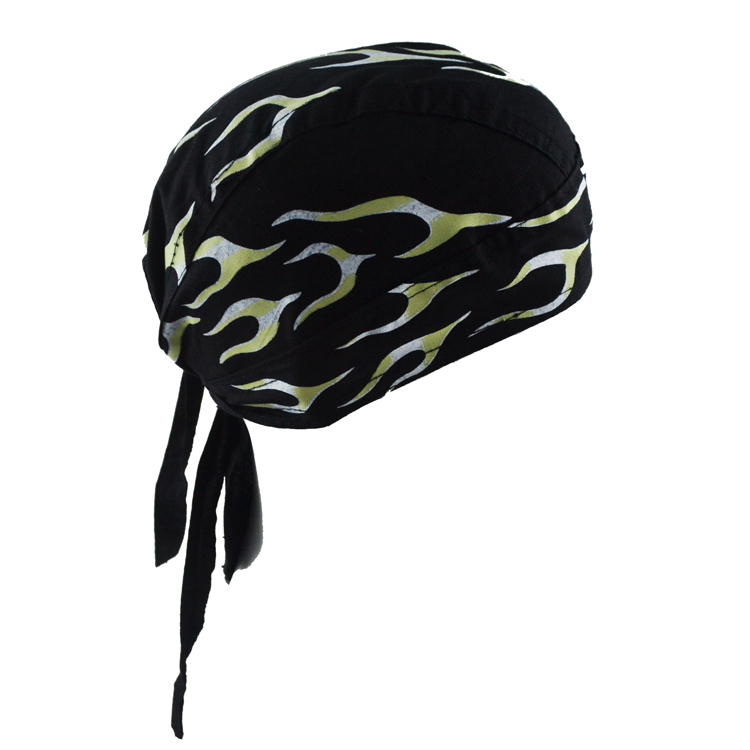 Wholesale Cheap Cotton Printed Hip Hop Pirate Hat Biker Durag <strong>Black</strong> Skull Mens <strong>Bandana</strong>