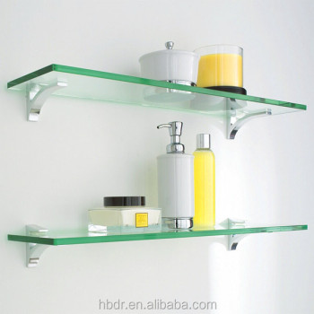 Wholesale Glass Shelf Bracket Glass Holder / Corner Shelves For Bathroom