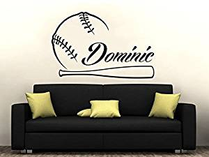 Baseball Name Wall Decal Boy Custom Personalized Boys Name Decor Vinyl Decal Baseball Kids Teens Boys Room Sports Wall Decal Nursery ZX262