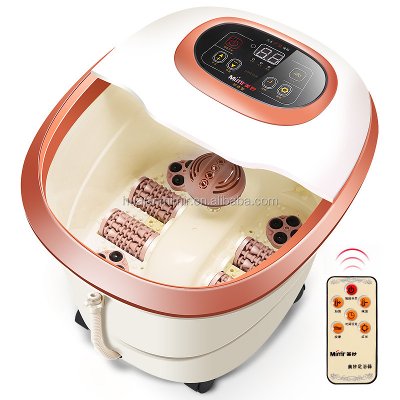 Automatic Electric Heating Foot Bath Basin Massage Feet Soaking Feet Deep Bucket Pedicure Massage