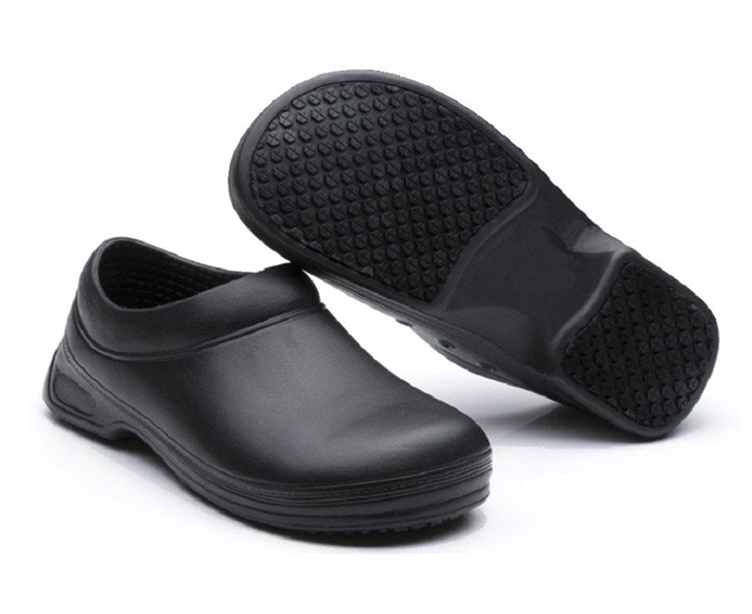 406265825224 Get Quotations · INiceslipper Unisex Chef Shoes Non-Slip Safety Shoes Oil  Water Resistant Casual Flat Shoes