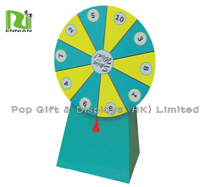 Promotion Attractive Cardboard Wheel Of Fortune Lucky Display