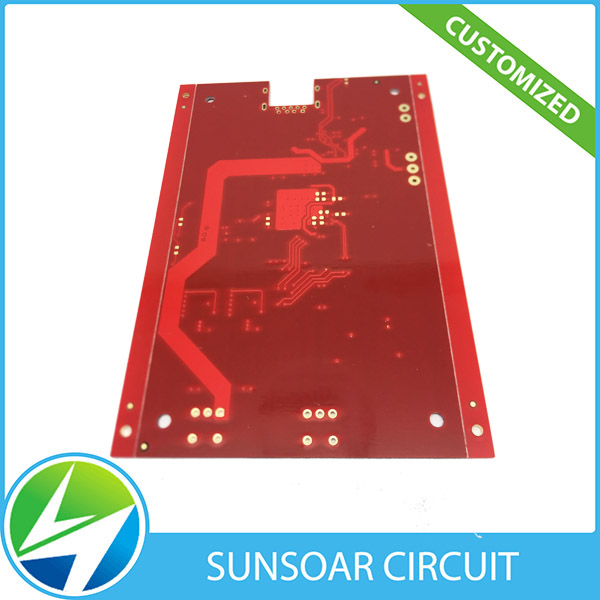 fr4 red soldermask white silkscreen 2 layer pcb