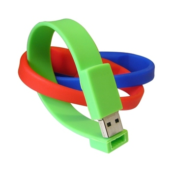 Customized wrist band 4GB usb flash drive, usb stick with your logo