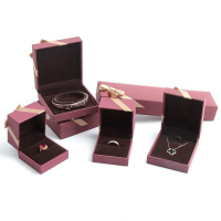 Premium paper packaging jewelry boxes wedding ring box