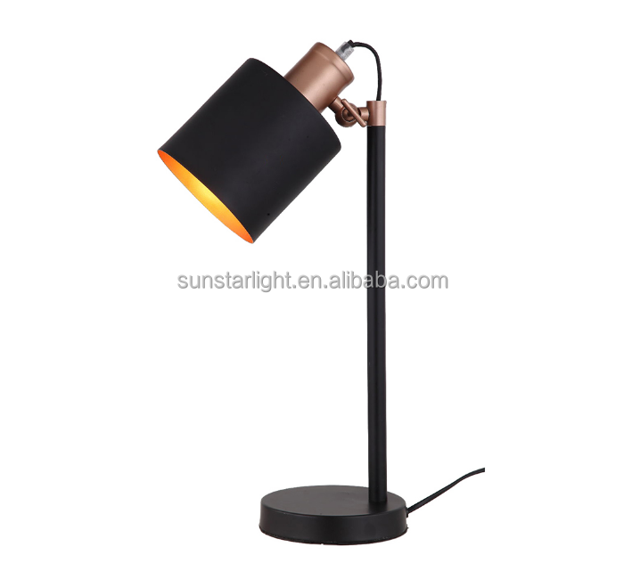 Nordic Industrial Style Table Lamp Retro Desk Lamp With E27 Lamp Socket