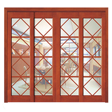 Home Design Double Balcony Grilles Sliding Wooden Cheap Doors