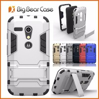 Iron bear stand phone case custom cover case for moto g