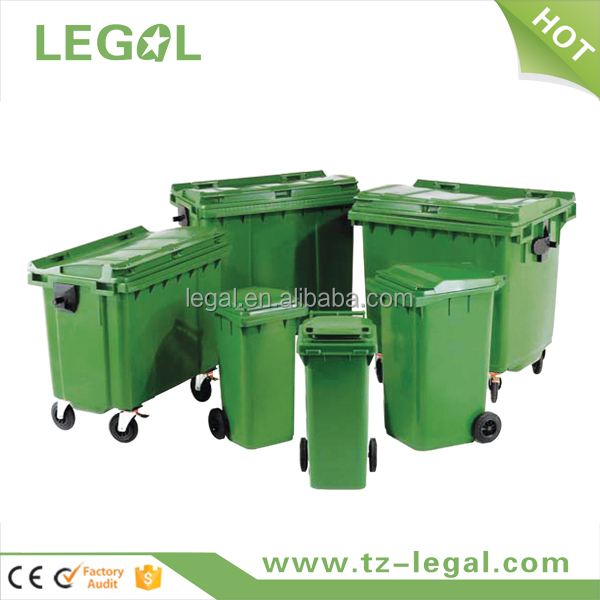 Plastic Garden Waste Container 1100l Eco Friendly Recycling Bin ...