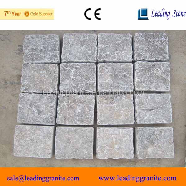 China coffee brown limestone paving stone on net