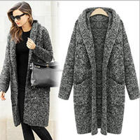 monroo latest wholesale knitted sweater women cashmere wool coat
