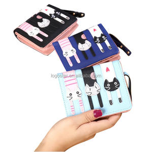 Multi-pockets Nylon Cute Wallet with Many pockets