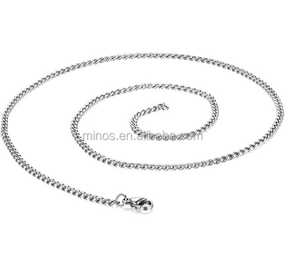 Steel 3.5mm Stainless Steel Mens Womens Necklace Curb Link Chain,Stainless Steel Long Chain Necklace