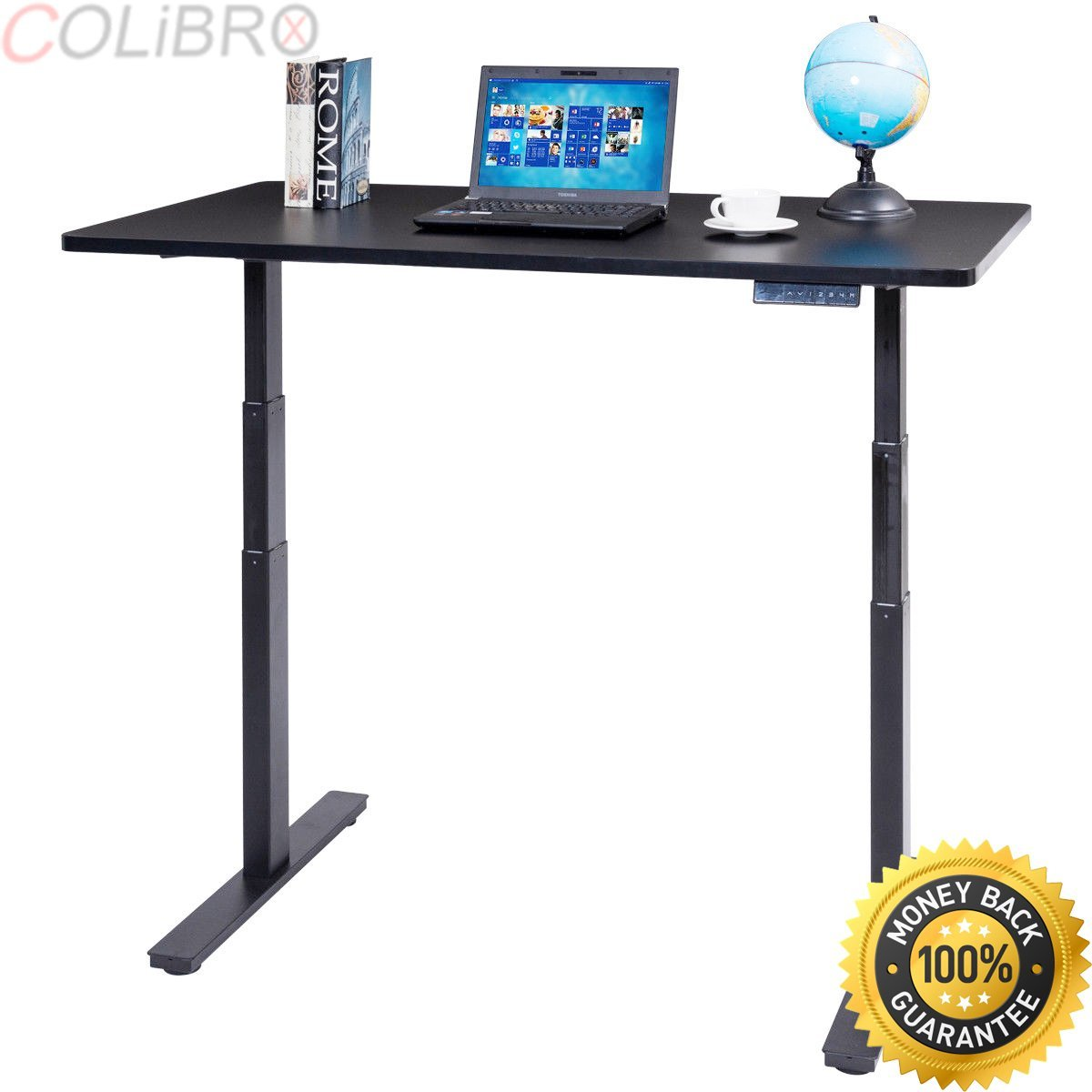 """COLIBROX--53"""" 7-Button Electric Height Adjustable Sit-Stand Desk Standing Dual Motor New. tPB+ dual motor electric adjustable base height sit-stand standing desk frame. best electric sit-stand."""