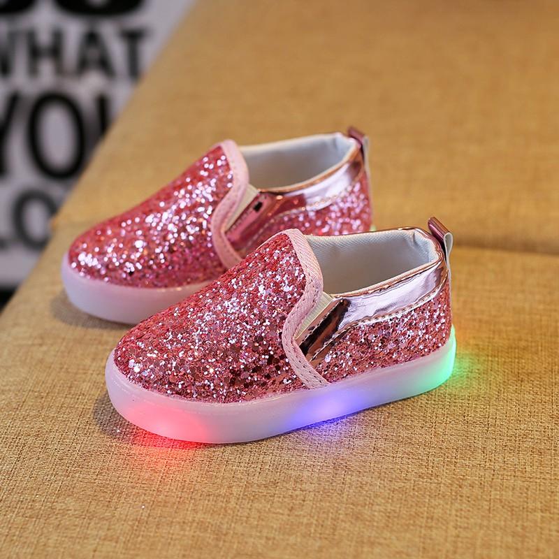 e78483a55acf9b Compre Primavera Outono Bebê Crianças Lightenning Shoes Crianças Led ...