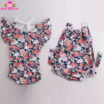 b972c621a48 Newest Design Boutique Seersucker Baby Rompers Wholesale Summer Holiday Flutter  Sleeve Backless Baby Girl Bubble Ruffle