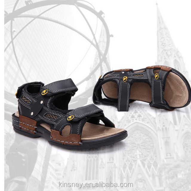 ce4a6cb5bcd0c KS10115S High quality boys fancy genuine leather sandals new design vento  sandal
